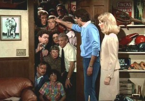 "The original ""will they/won't they"" pairing: Sam Malone & Diane Chambers."